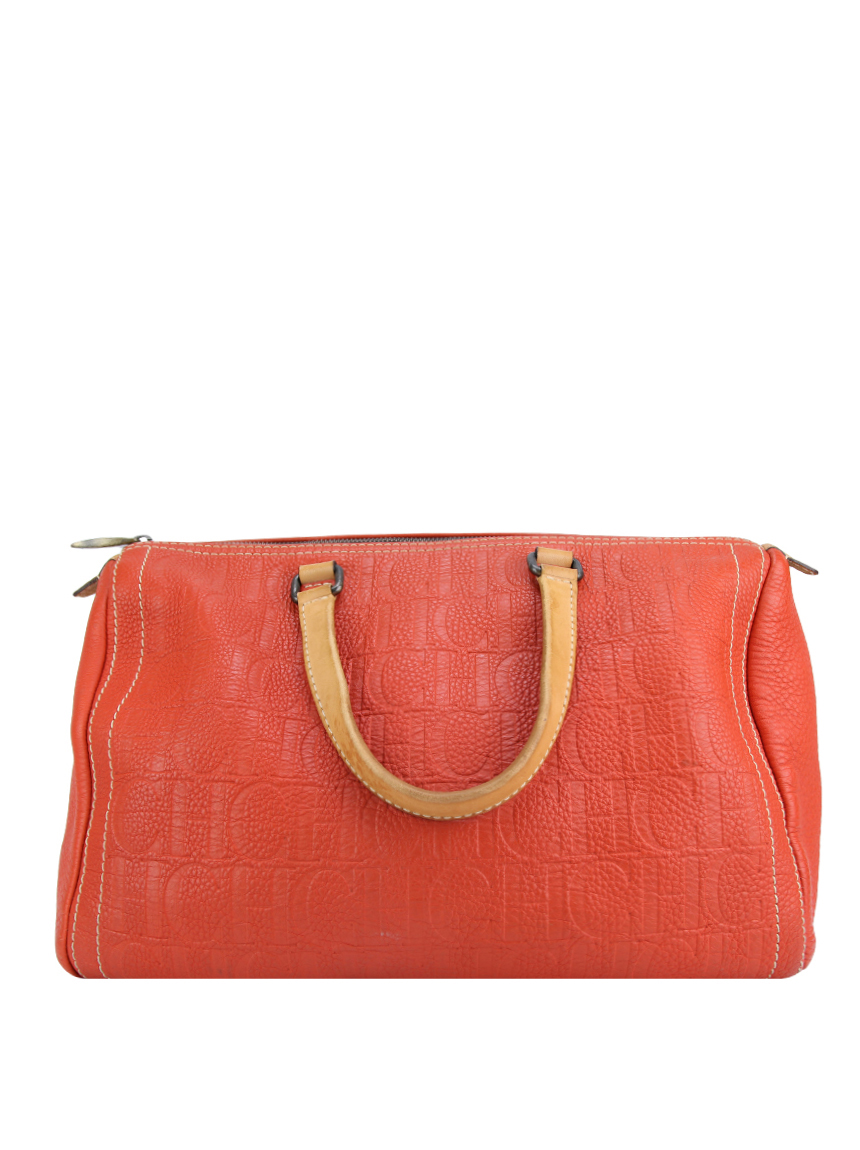 2263be01ee3b6 Bolsa Carolina Herrera Andy Laranja Original - DTA1