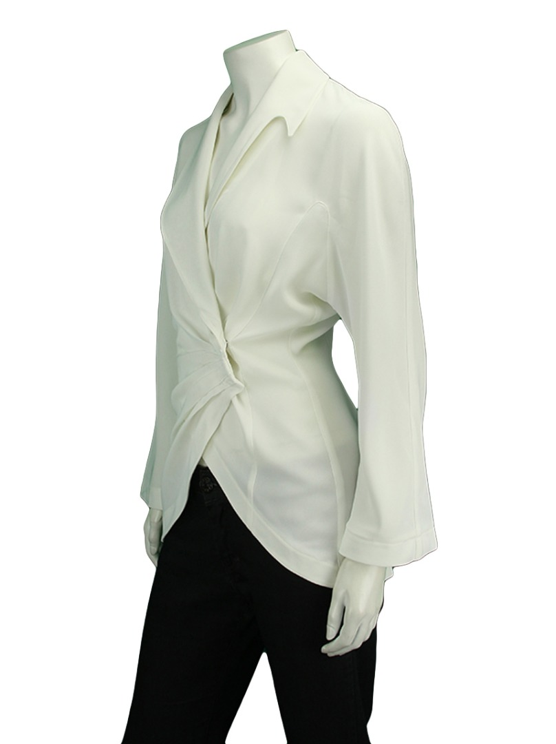 blazer thierry mugler off white original sz1459. Black Bedroom Furniture Sets. Home Design Ideas