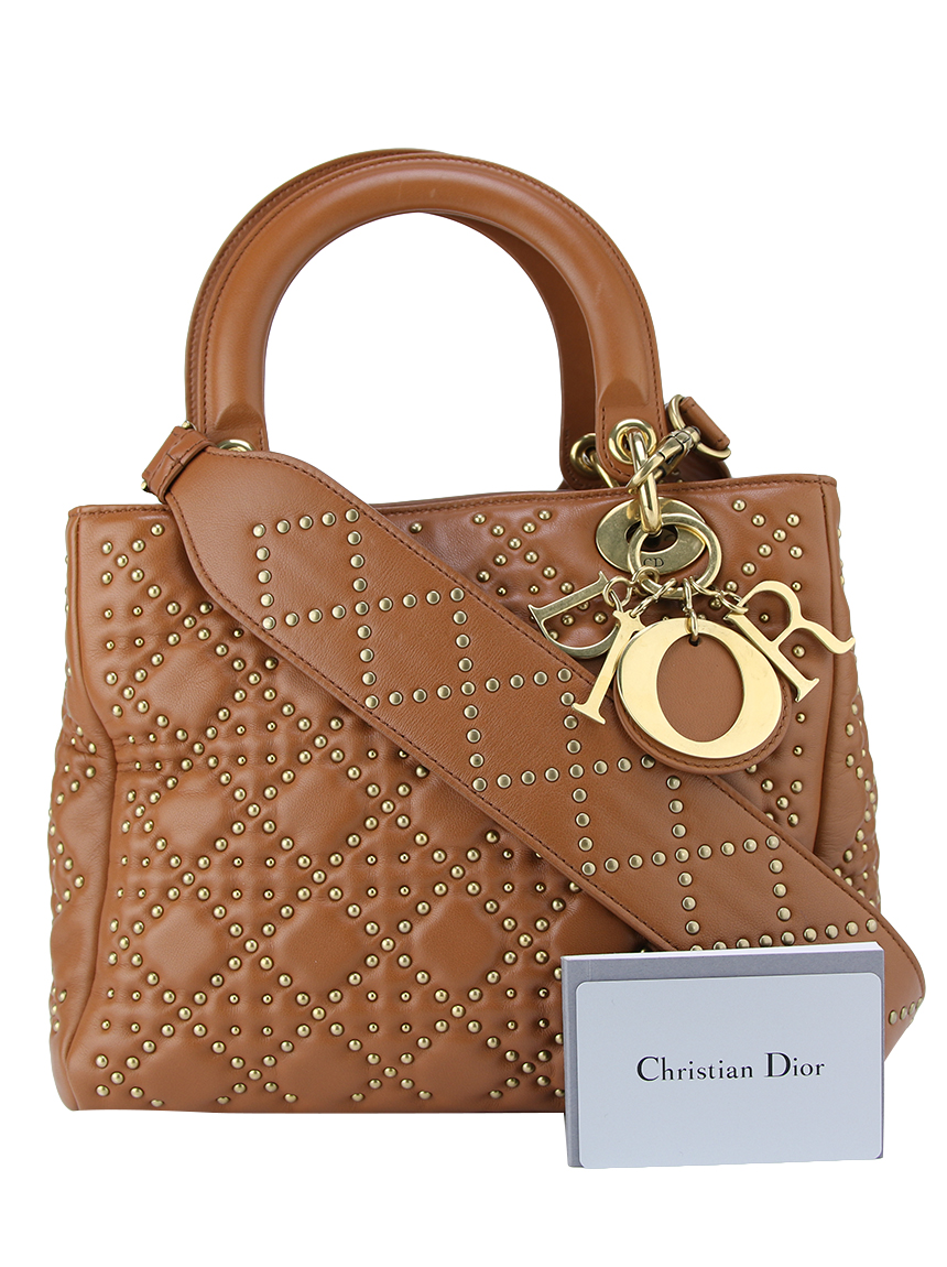 caa81d5a24a Bolsa Christian Dior Lady Dior Supple Studded Original - BLB11 ...