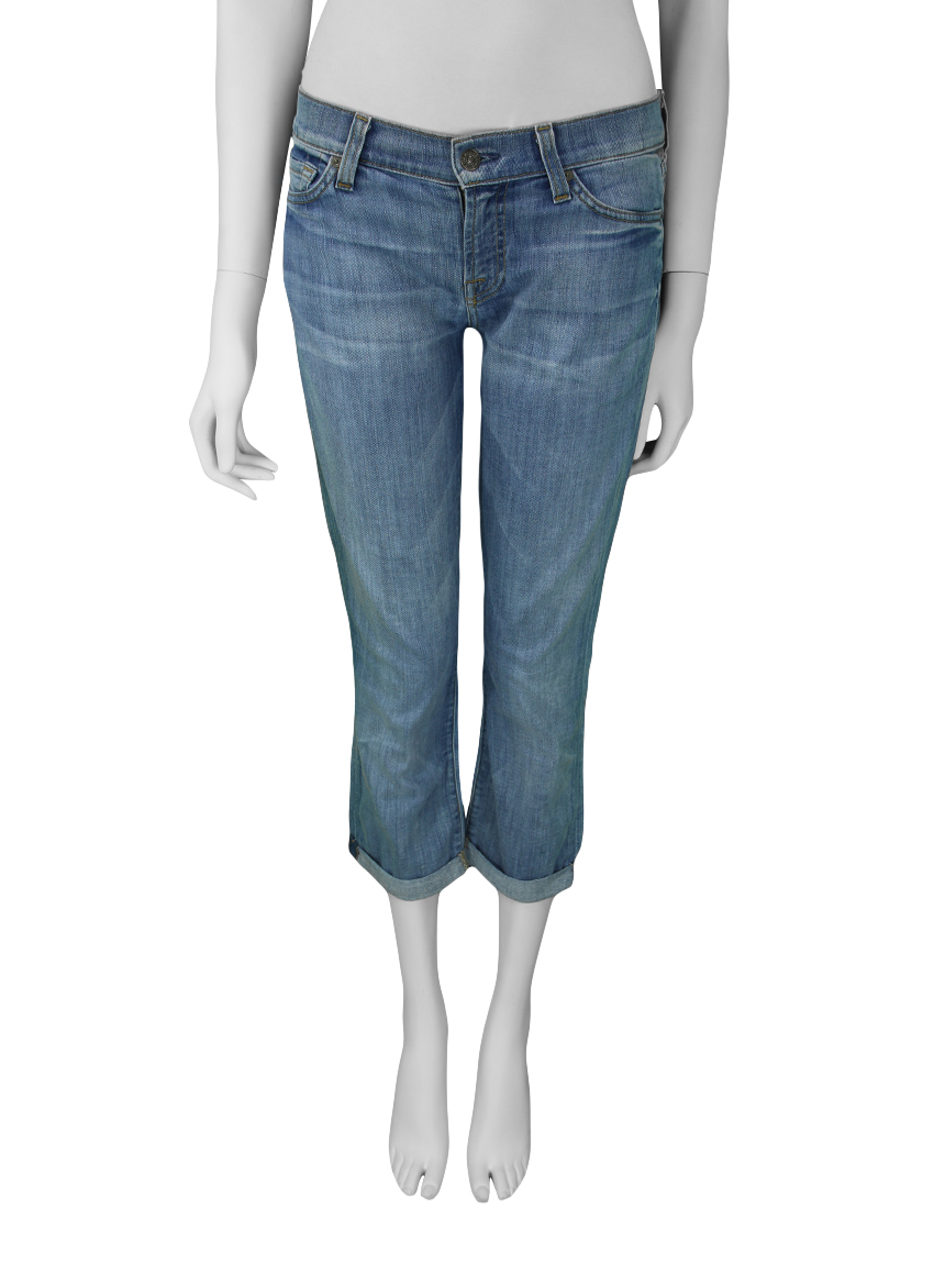89a12a520 Calça Seven For All Mankind The Skinny Crop & Roll Jeans Original ...