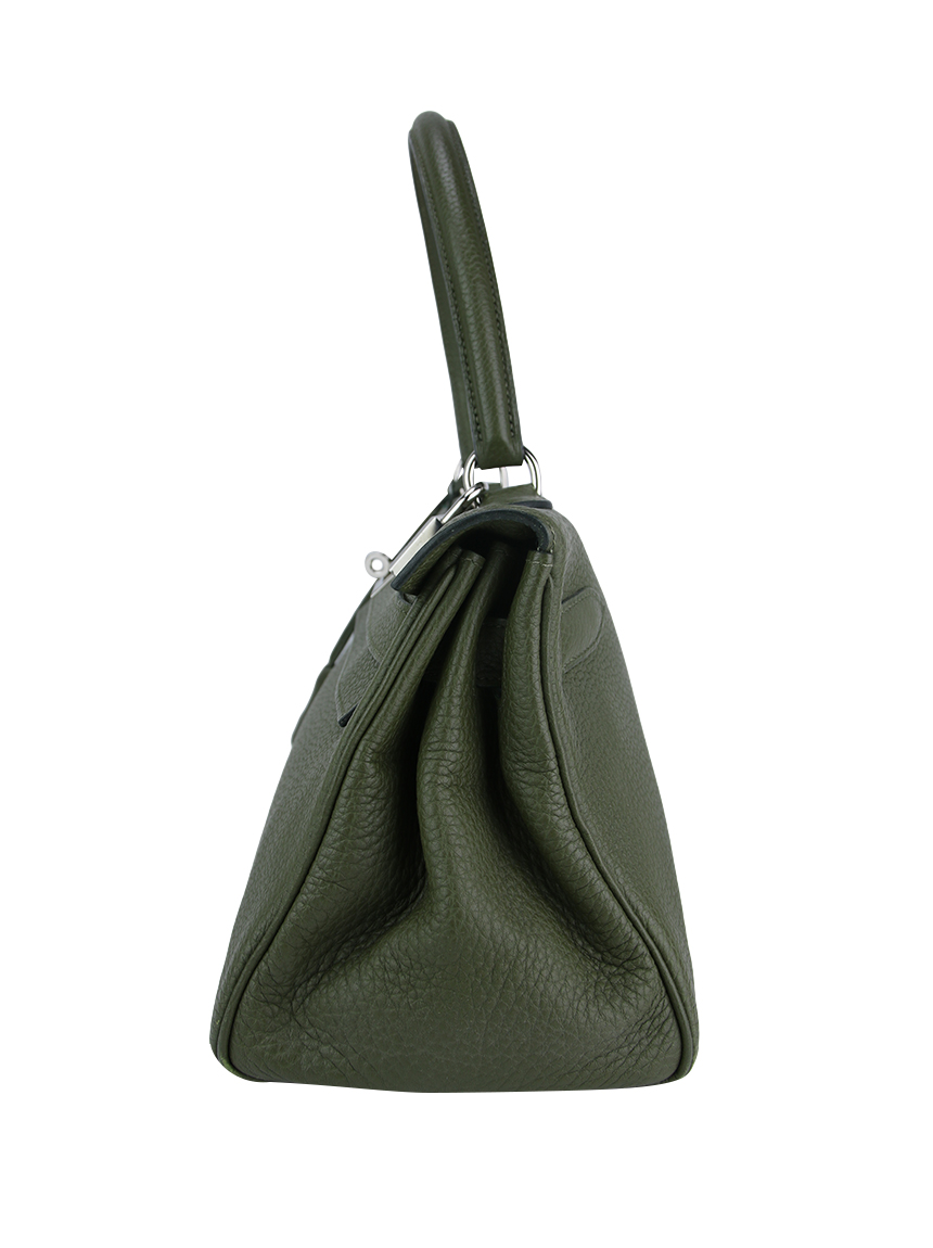 f50840bfbe7 Bolsa Hermès Kelly Shoulder Verde Original - SZ2849