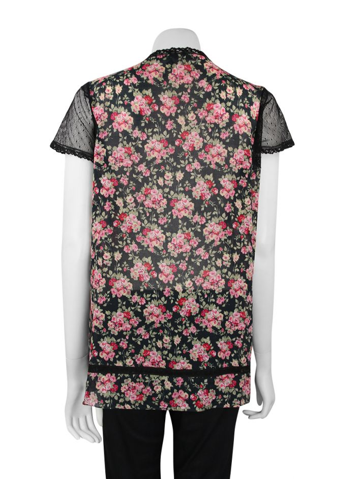 Blusa Mixed Floral Rendada