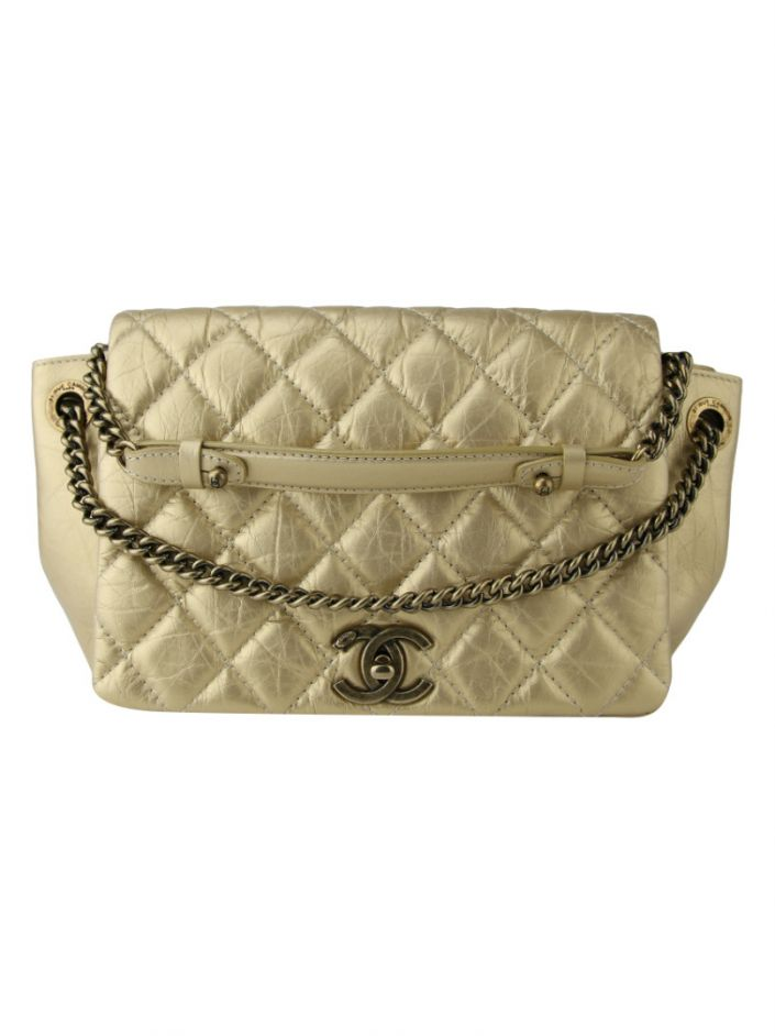 Bolsa Chanel Accordion Dourada