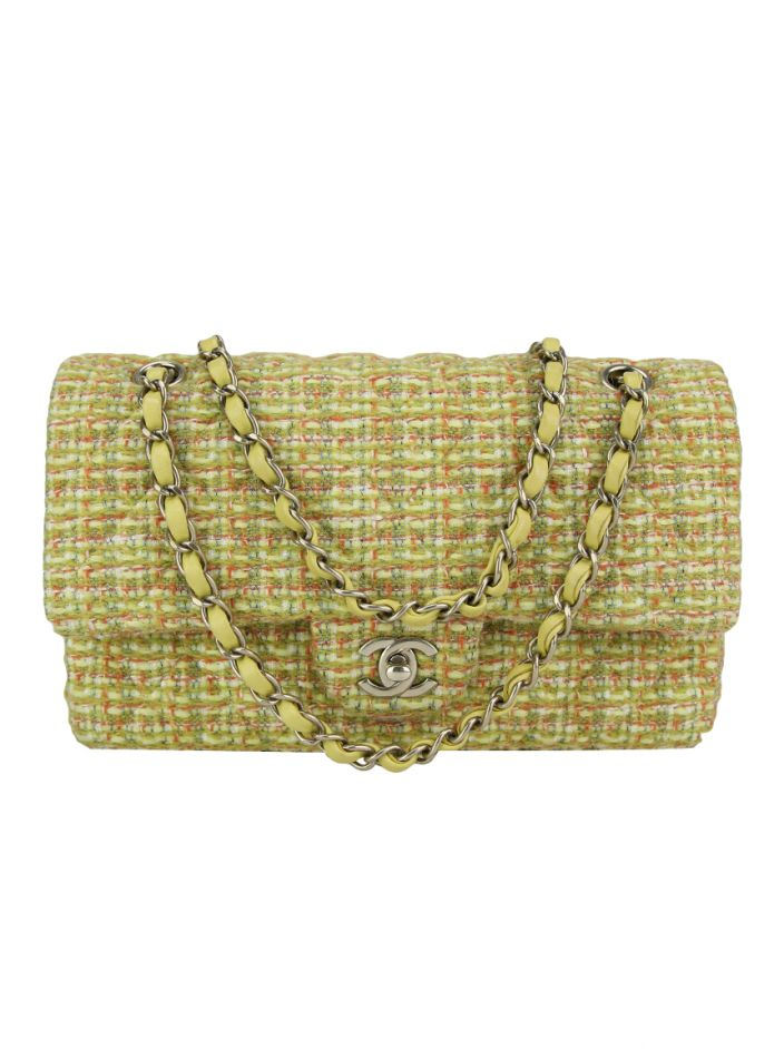 Bolsa Chanel Double Flap Tweed