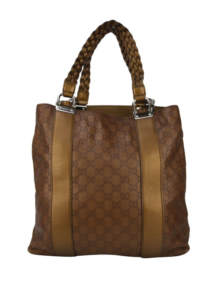 Bolsa Gucci Bamboo Bar Shopper Tote Guccissima