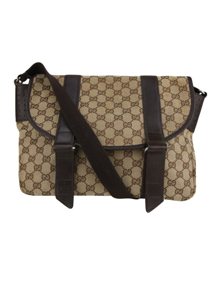61b2aef560d Bolsa Gucci Messenger GG Canvas Original - AEO6