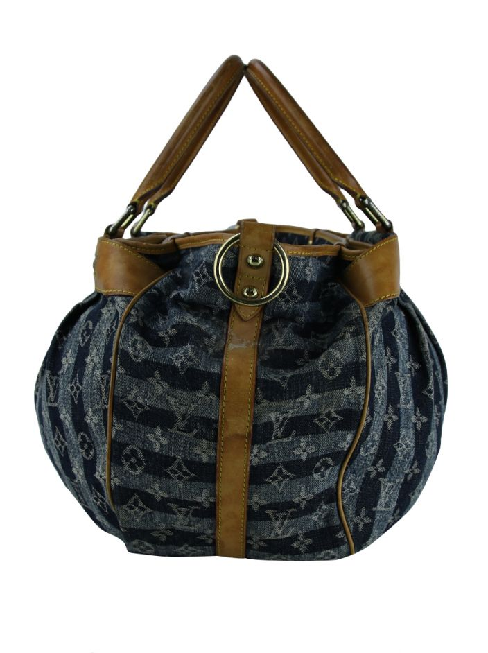 Bolsa Louis Vuitton Denim Cabas Raye
