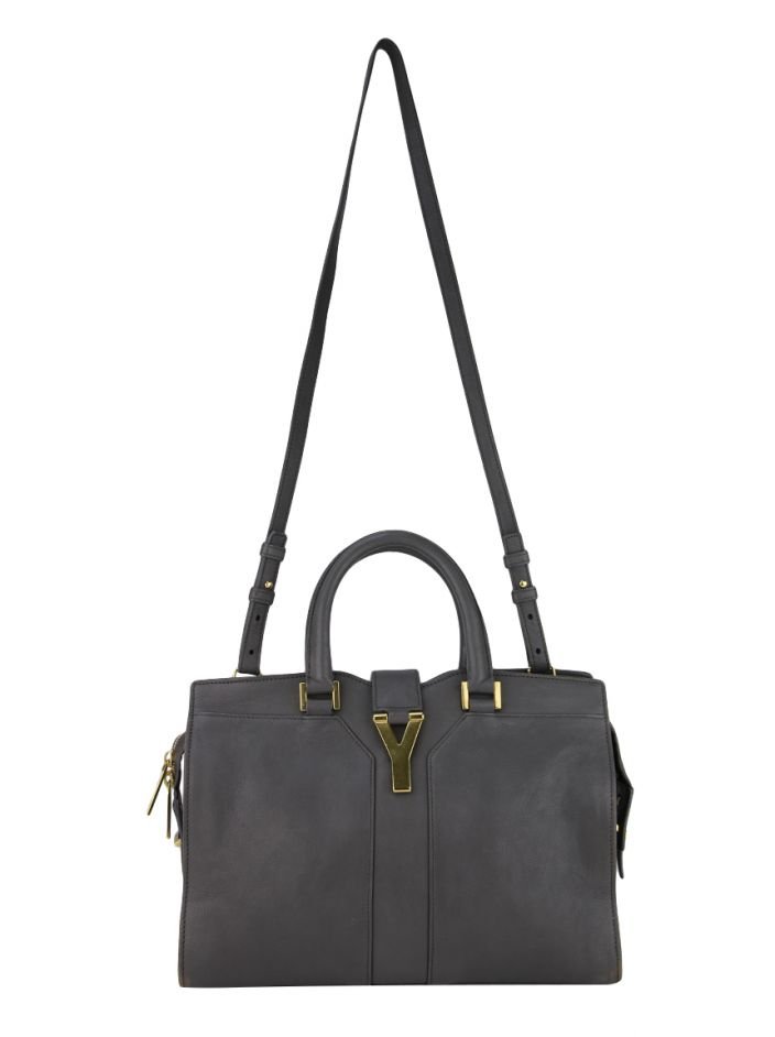 Bolsa Yves Saint Laurent Small Cabas Cinza