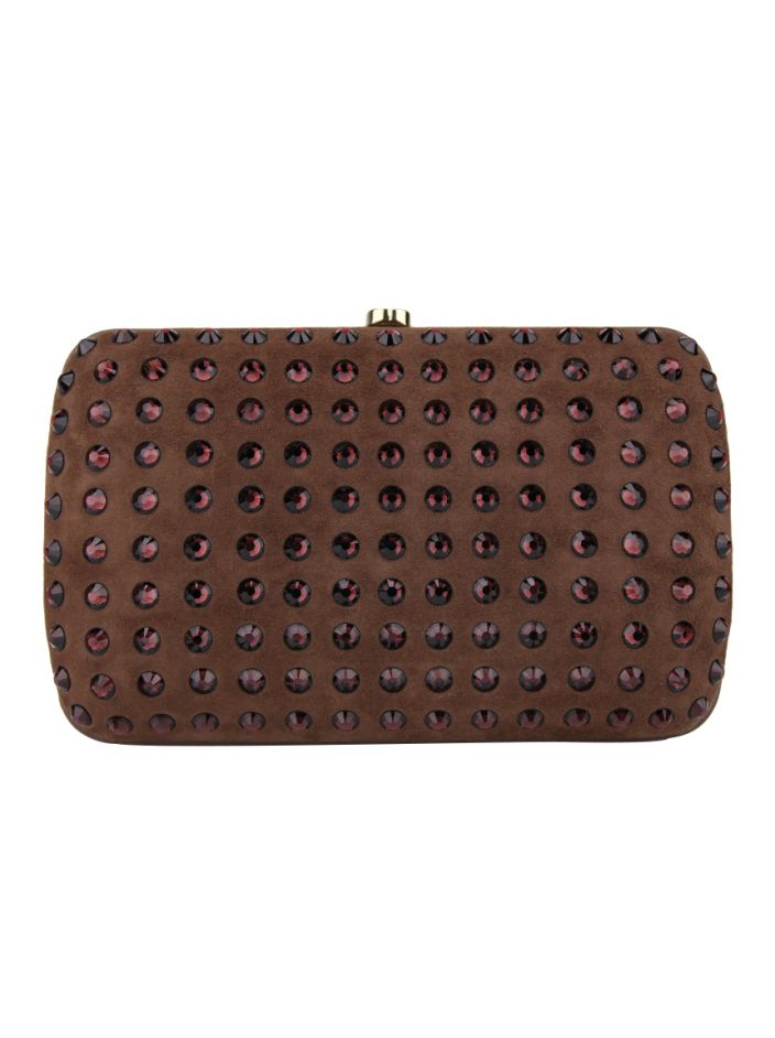 Clutch Gucci Broadway Evening Hard Marrom