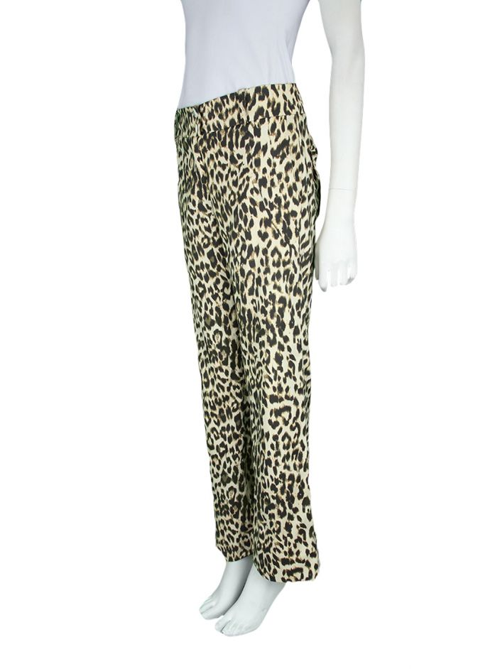 Calça Mixed Reta Animal Print