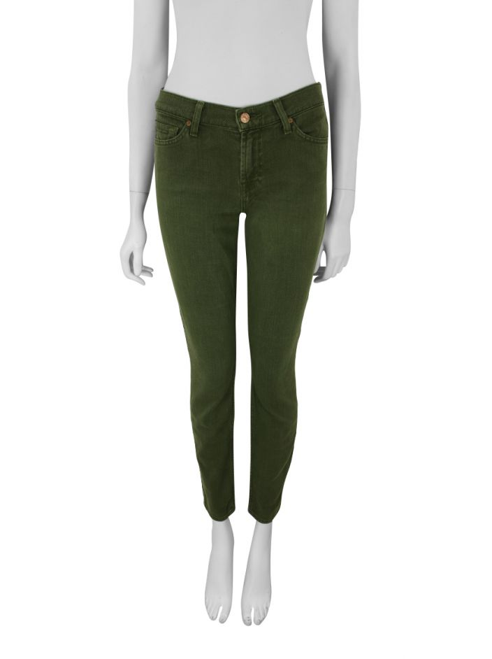 Calça Seven For All Mankind Ankle Gwenevere Verde Militar