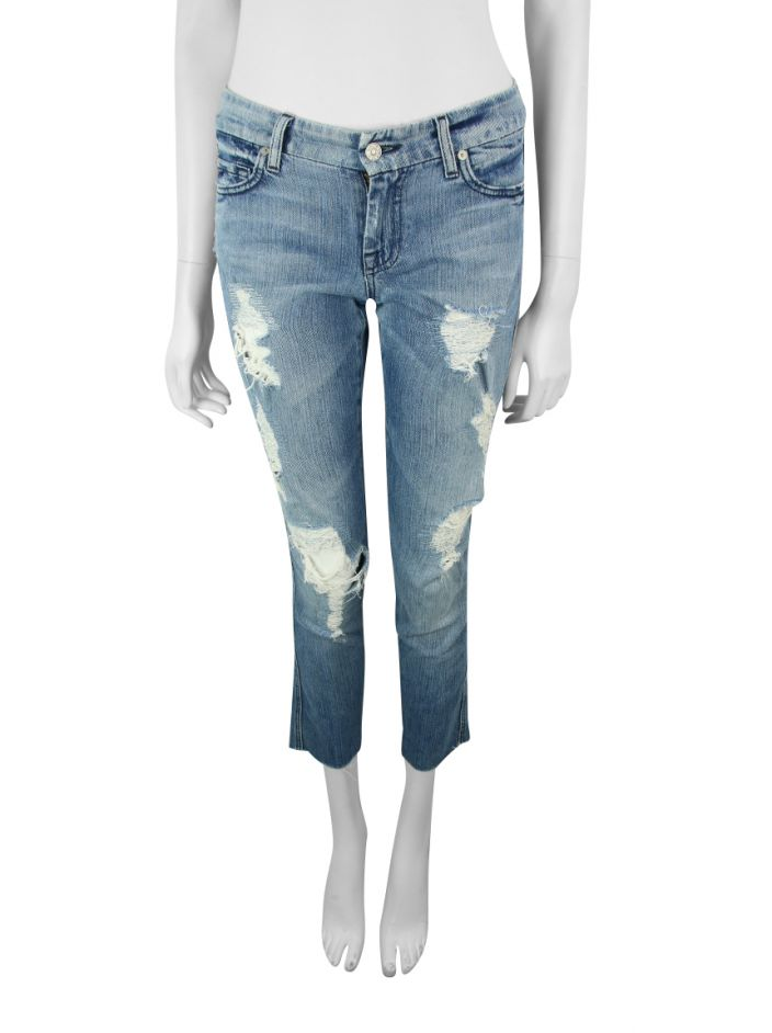 Calça Seven For All Mankind Lexie A Pocket Destroyed
