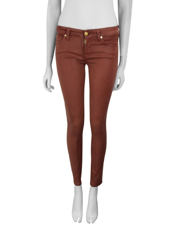 Calça Seven For All Mankind The High Gloss Skinny Terracota
