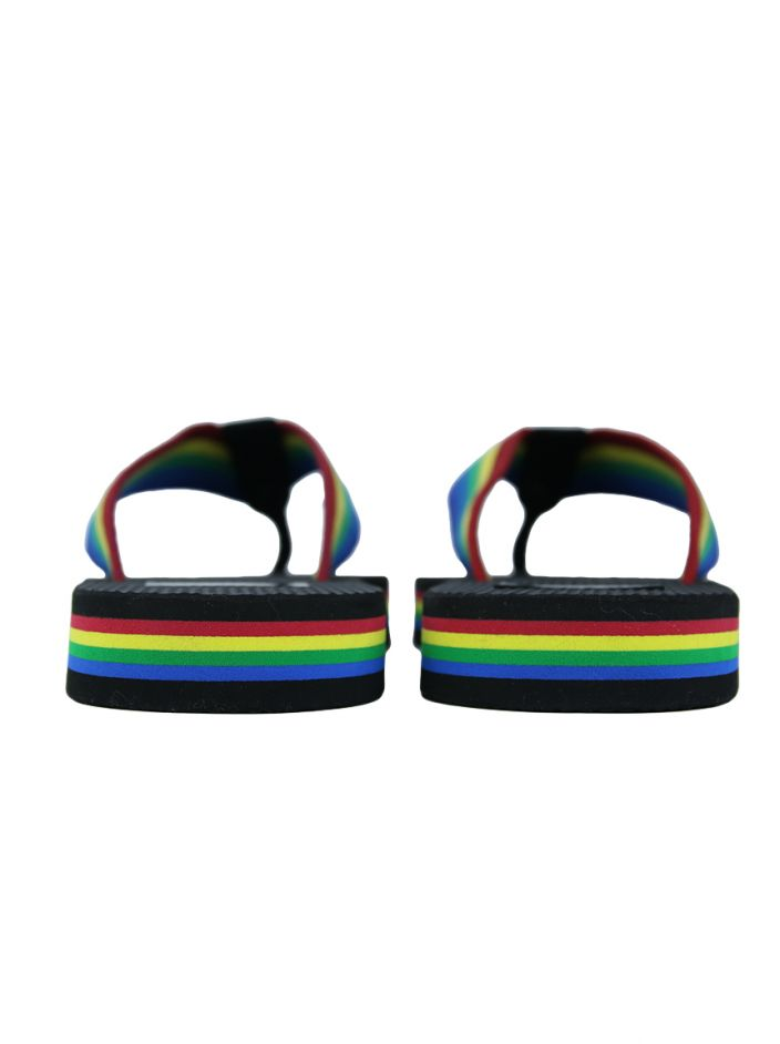 Chinelo Yves Saint Laurent Nu Pieds Rainbow Preto