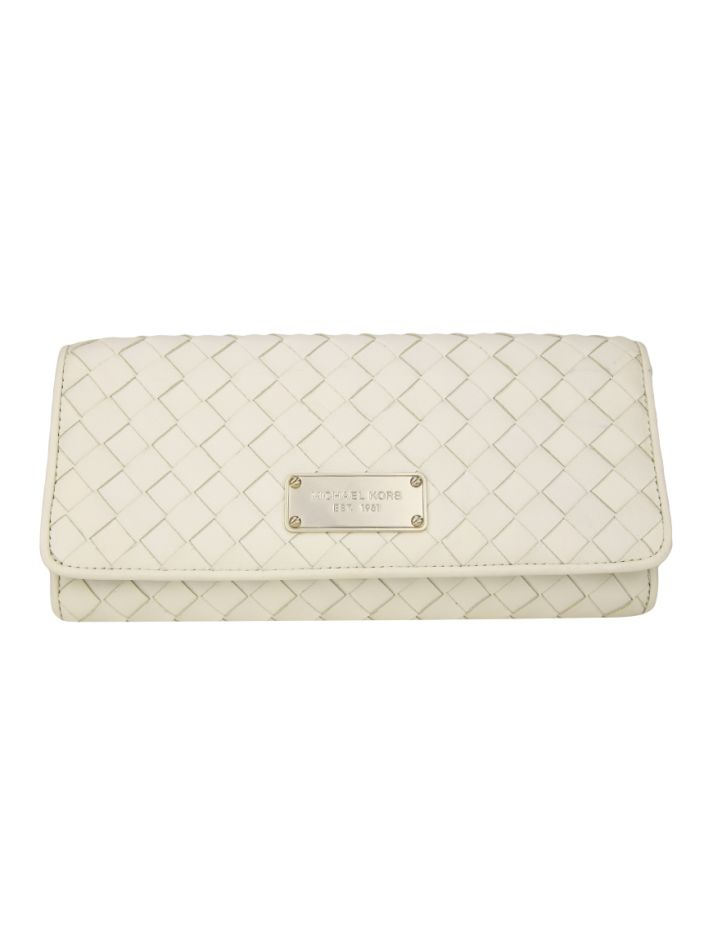 b84816f073778 Clutch Michael Kors Couro Off-White Original - ACI46