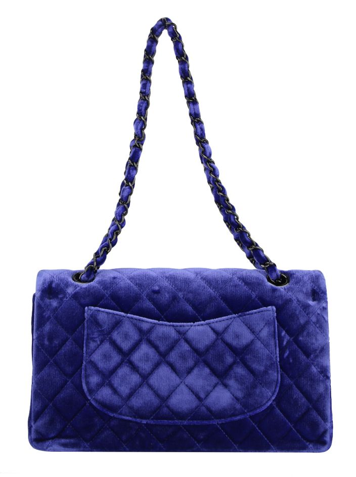 Bolsa Chanel Double Flap Veludo