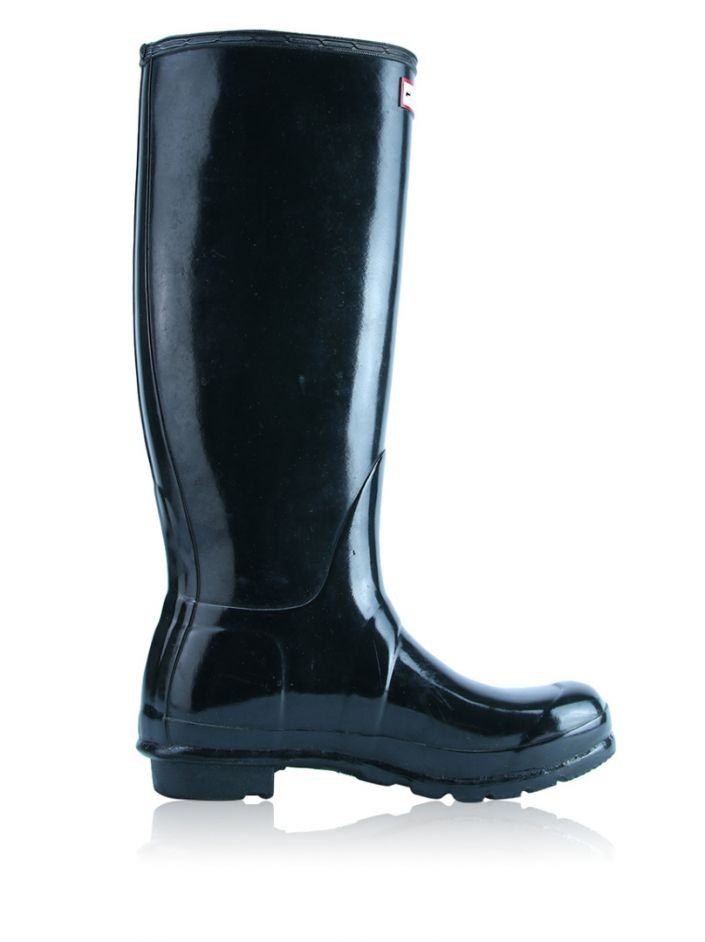 52ab41cf9d7 Galocha Hunter Original Tall Gloss Rain Boots Preta Original - CQS1 ...