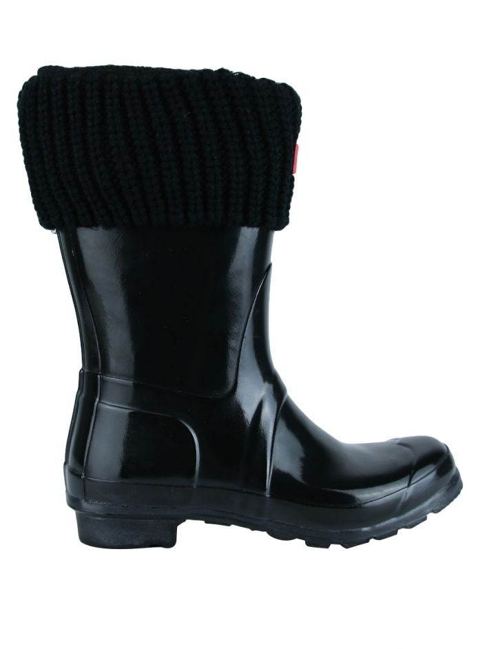 4c4cd76eea8 Galocha Hunter Short Gloss Wellington Boots Preta Original - BNM57 ...