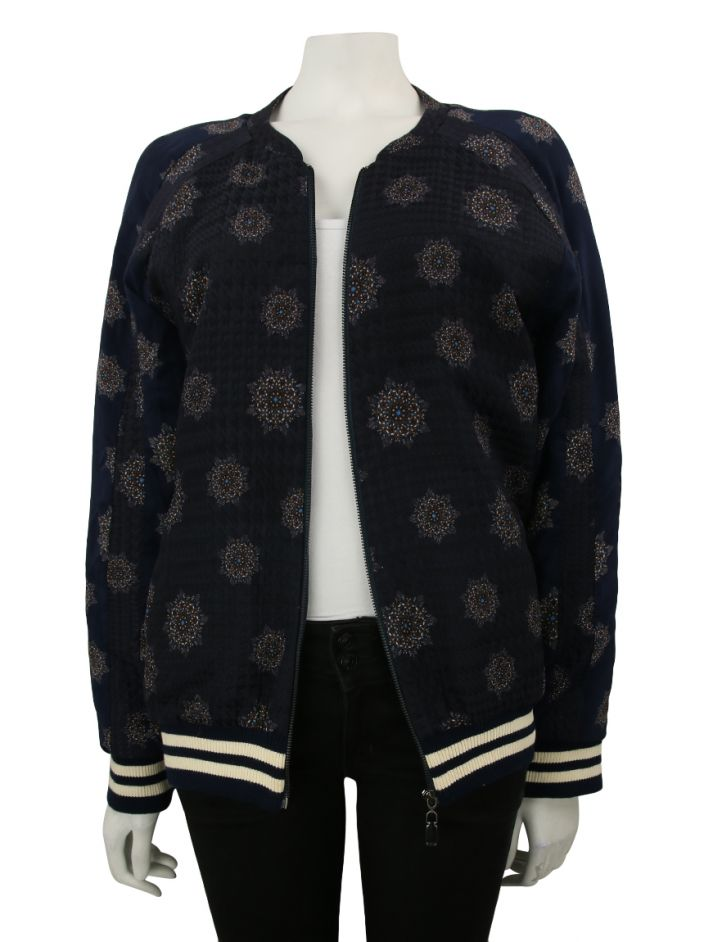 Jaqueta Mixed Bomber Estampada
