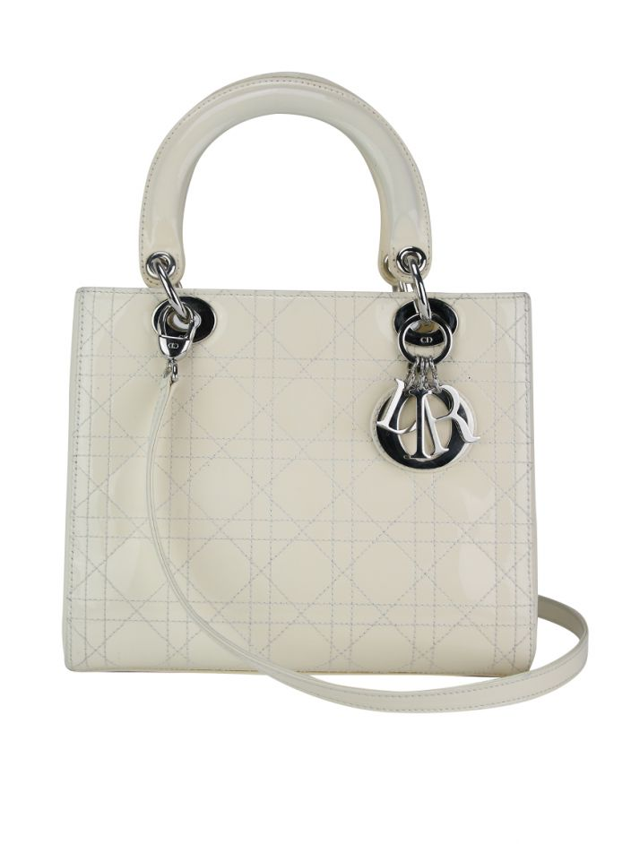 Bolsa Christian Dior Lady Dior Off-White