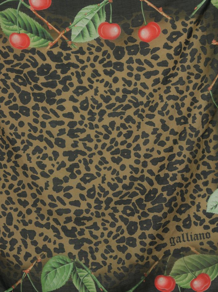 Lenço Galliano Estampa Leopardo