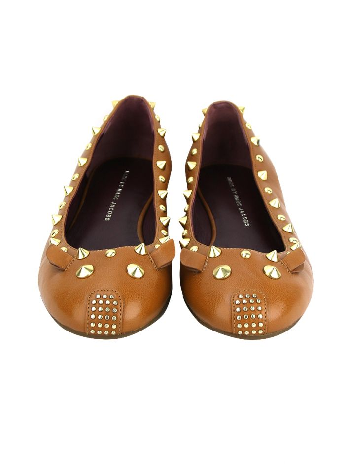 Sapatilha Marc By Marc Jacobs Mouse Flats Caramelo