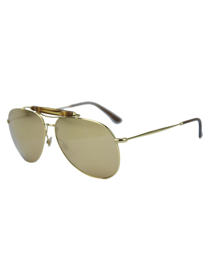Óculos Gucci 24K Gold-Plated Aviator