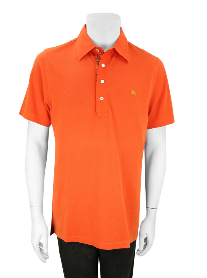 Polo Burberry Slim Fit Laranja Masculino