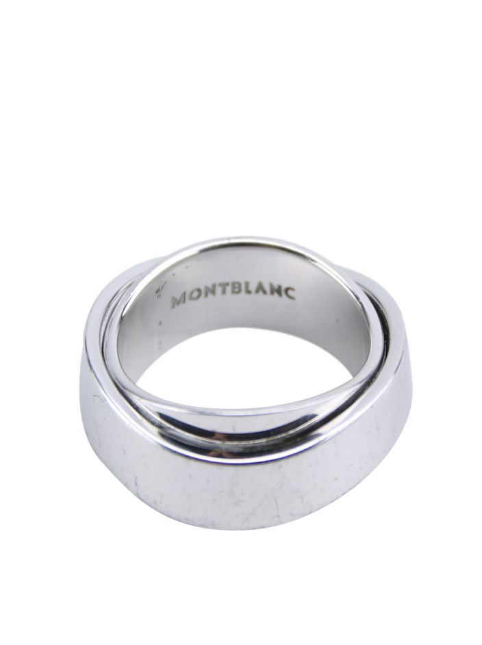 0c0614ddf3799 Anel Mont Blanc Profile Collection Small Rotating Ring Prata ...