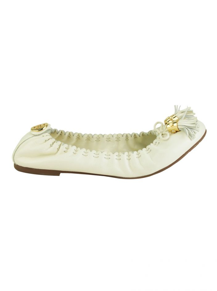 Sapatilha Tory Burch Couro Off White