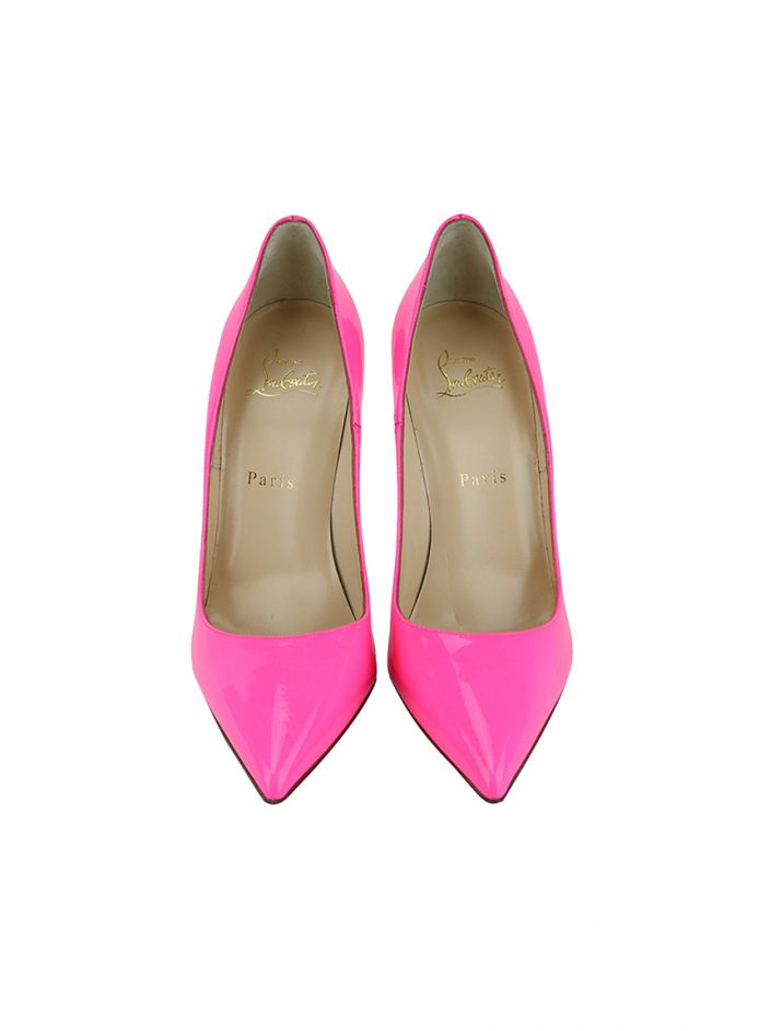 Scarpin Christian Louboutin So Kate Rosa Fluorescente