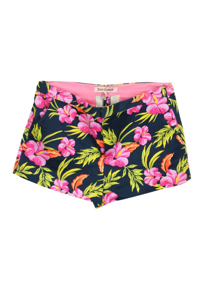 Shorts Juicy Couture Azul e Floral