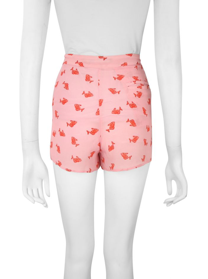 Shorts Mixed Estampa Rosa