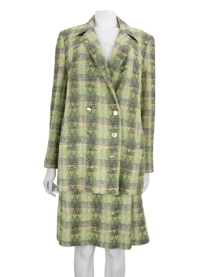 Tailleur Chanel Tweed Verde