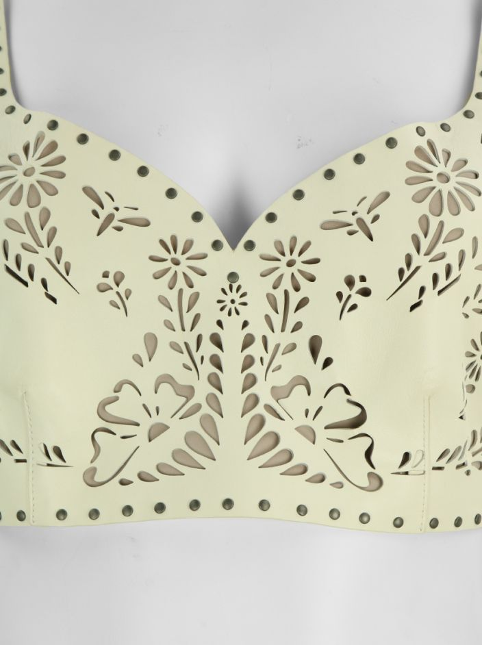 Top Valentino Cut Out Off White