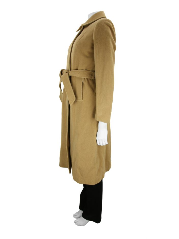 Trench Coat Burberry Lã Bege
