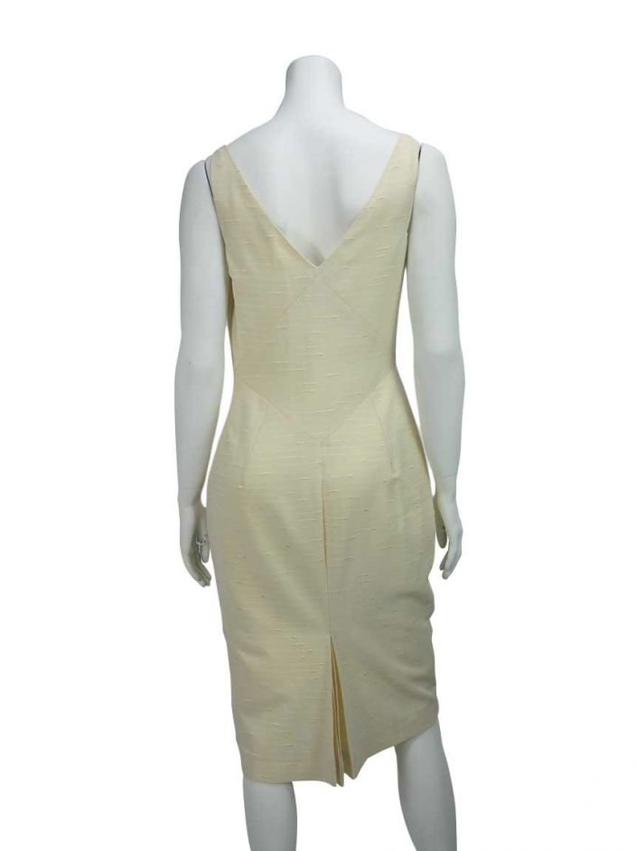 Vestido John Galliano Seda Off-White