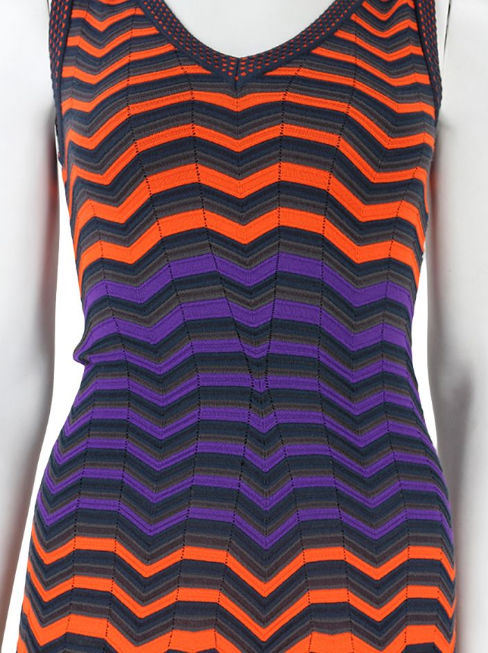 Vestido M Missoni Regata Tricot Multicolor