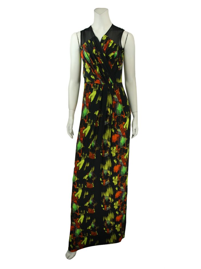 Vestido Matthew Williamson Longo Estampado
