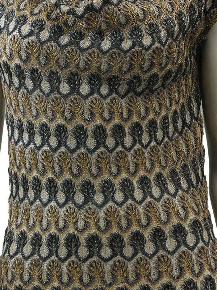 Vestido Missoni Metalizado Multicor