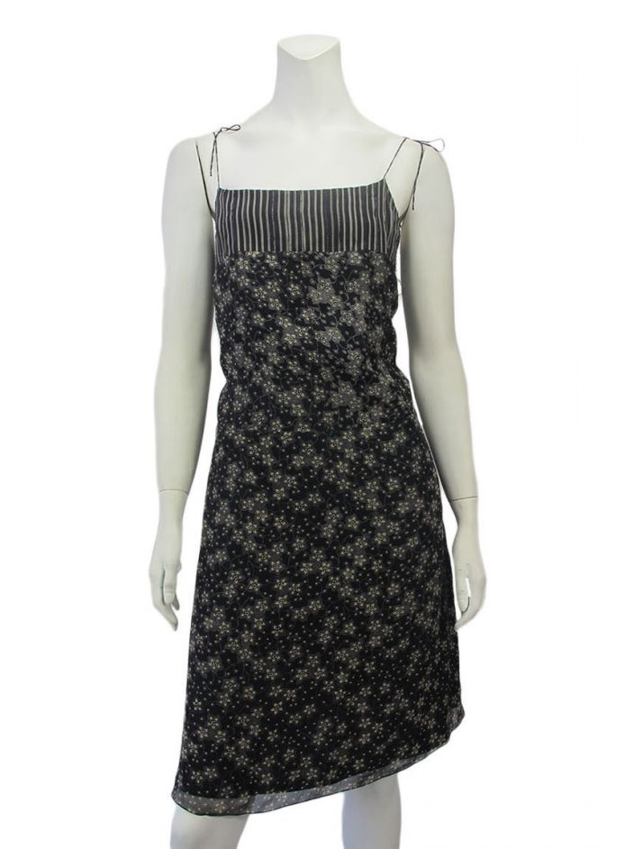 Vestido Mixed Estampado Preto