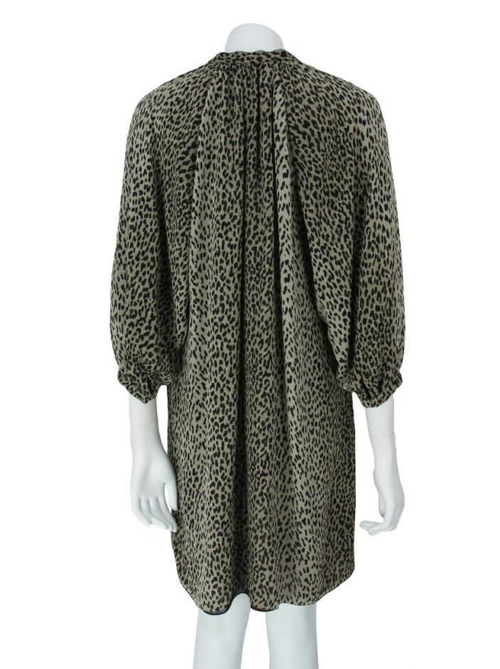 Vestido Saint Laurent Seda Animal Print