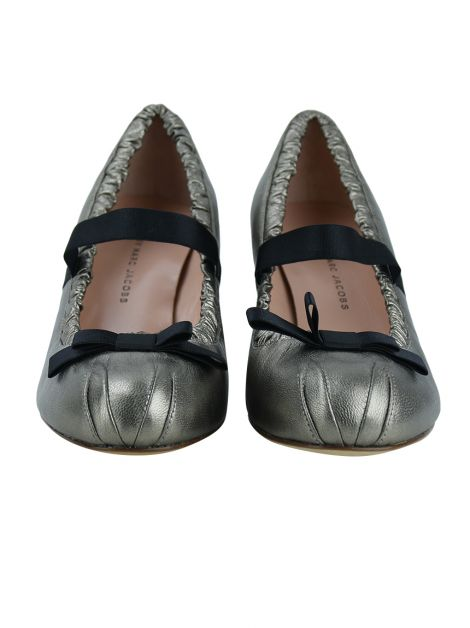 Sapato Marc by Marc Jacobs Couro Metálico