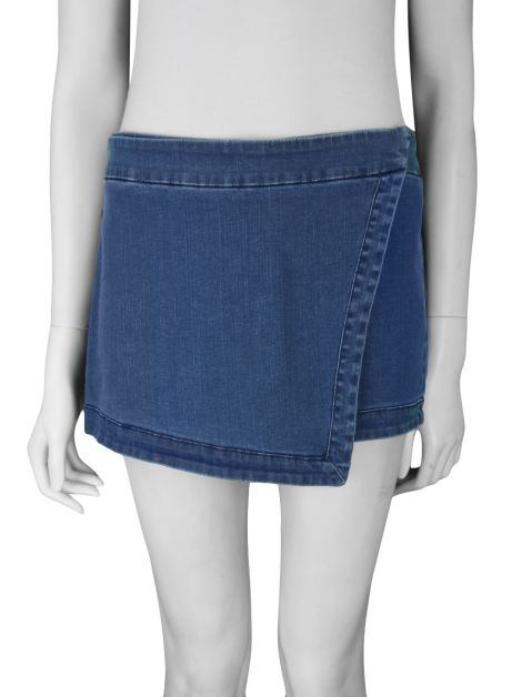 Short Saia Mixed Jeans Azul