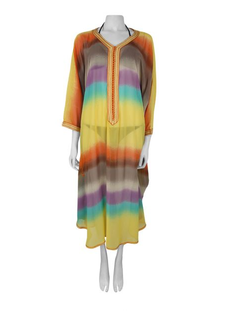 Kaftan Achados do EU Listrado Multicolor
