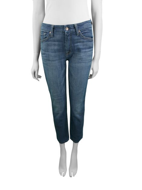 Calça Seven For All Mankind Kimmie Crop Azul