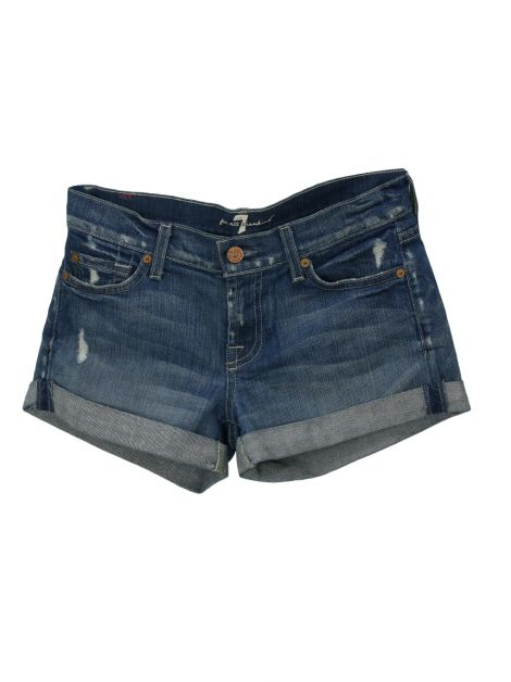Shorts Seven For All Mankind Jeans Azul