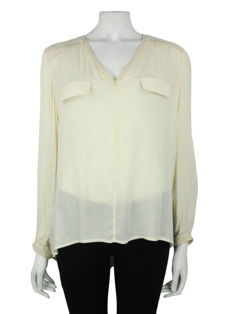 Camisa Cris Barros Viscose Off White