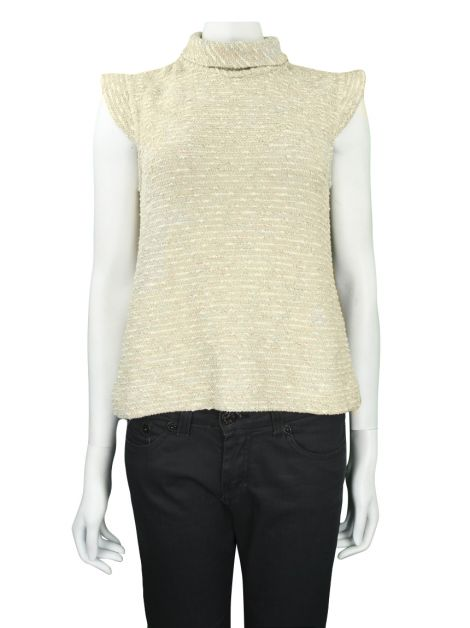 Blusa Mixed Boucle Nude
