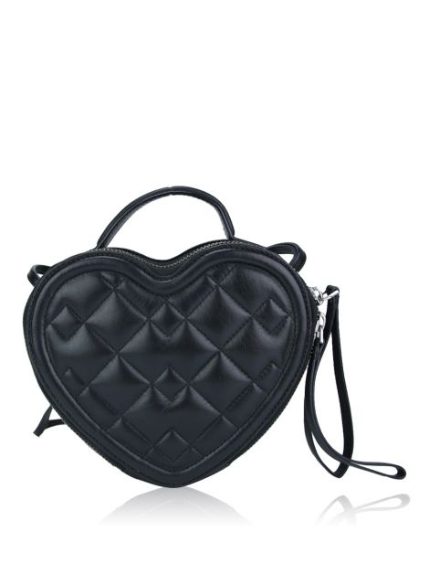 Bolsa Marc by Marc Jacobs Quilted Heart Crossbody Preta